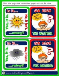 WEATHER + TO BE GO FISH! GAME