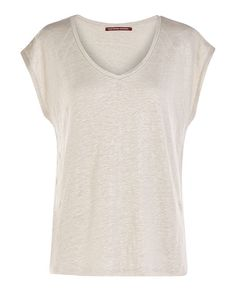 Linen T-shirt TARAGUAY - Colour WHITE CLAY