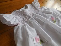 Size 24 months Vintage White Pink Embroidered by LittleMarin,