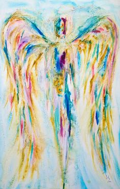 """ANGEL PAINTINGS AND ANGEL ART Title: """"Loving"""" Visit our page at www.ivanguaderram... Buy Angel Art Prints fineartamerica.co..."""