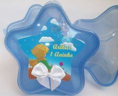 Caixinha no formato de estrela para colocar as guloseimas e outros acessórios da festa.