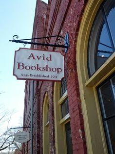 Avid Bookshop, Athens, GA The boys love visits to this book shop.