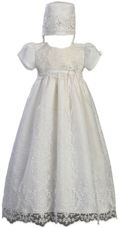 Amazon.com: Embroidered Tulle Christening Baptism: Infant And Toddler Christening Apparel: Clothing