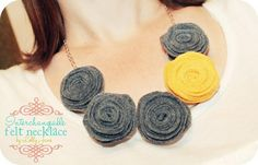 This necklace is made of FELT!! & the colored flowers are interchangable!