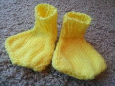 I need to get these for my cousin's baby    hand knit baby yellow duck feet Made to Order by NettieLikesToKnit, $10.00