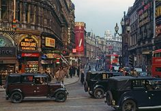 Piccadilly Circus by Chalmers Butterfield, 1949