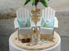 Base Attached Beach Sign & Beverage Wedding by Memoriesnminiature
