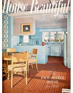 1951 blue kitchen, so cute!