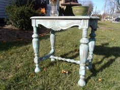 Antique Shabby Chic, Rustic, Side, Accent Table - Painted $95