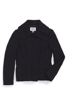 Armani Junior Asymmetrical Placket Knit Jacket (Big Girls) available at #Nordstrom