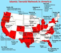 Here Is A MAP: Known Terror Networks in the USA - Tea Party Patriots