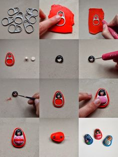 Polymer Clay pull-ring figures - omg! <3