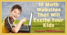 Classroom Tested Math Websites that will EXCITE Your Students