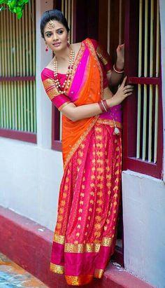 Half saree beauty.....