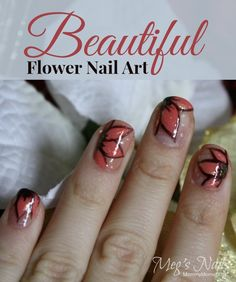 Beautiful Flower Nail Art