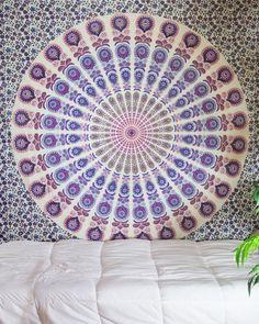 Purple & Magenta Mandala Tapestry $24.99 | www.thebohemianshop.com #HomeDecor #Bohemian