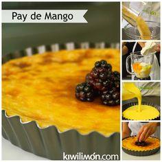 Receta de Pay de Mango al Horno paso a paso.