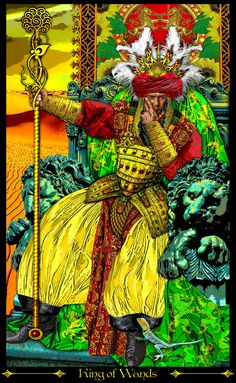 King of Wands--Tarot Illuminati