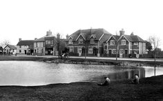 Old photo of The Village Pond 1908, Pirbright