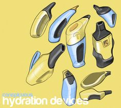 Sketches of the day - Hydration devices