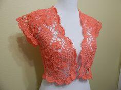 Crochet Bolero For Summer - Pretty Ideas Crochet Bolero Pattern, Crochet Beret, Crochet Jacket, Crochet Blouse, Diy Crochet, Vintage Crochet, Crochet Top, Crochet Shrugs, Crochet Sweaters