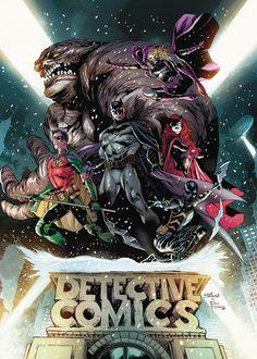 BATMAN DETECTIVE COMICS REBIRTH DLX COLL HC BOOK 01Cuando una fuerza de combate de élite modelada después de que el Caballero Oscuro invada su ciudad, Batman monta un equipo propio: Batwoman, Tim Drake, Spoiler, Orphan y Clayface.  Entonces, un villano misterioso llamado First Victim aparece y lanza un asalto a Batman y su equipo, obligándolos a luchar contra un enemigo que no saben nada, que parece tener el apoyo de toda una red de extraños nuevos enemigos!