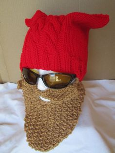 MEN  Beard hat   Womens Hat  Beard Beanie Wild by Ritaknitsall, $35.00