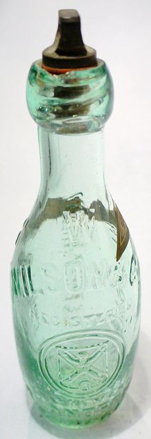 Bottle from Wilson &Co Brewery  John Wilson set up a small factory in Market Street, St Andrews, in 1877, before moving in 1902 to the Argle Brewery which he operated until his death. Wilson & Co did a large trade in bottling aerated water, ale and flavoured lemonades. Today, nothing remains of the Argyle Brewery; it was entirely demolished after the business closed in June 1984.