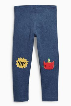 Buy Denim Cat Embroidered Leggings (3mths-6yrs) online today at Next: United States of America