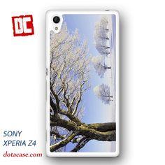 winter mountain trees snowy walls for sony experia Z1/Z2/Z3