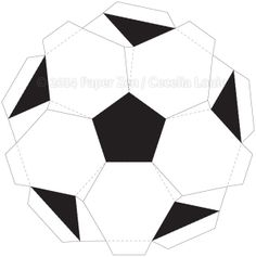 Paper Zen: 3D Soccer Ball Birthday Card Template