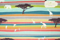 """BIRCH Bio Baumwolle """"The Plains Stripe"""" Serengeti von Eulenmeisterei auf DaWanda.com"""