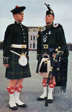Gordon Highlanders c. 1950, this isn't my dad but his uniform was the same.