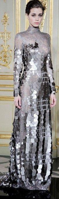Rami Al Ali Fall 2013 Haute Couture.model looks a bit bemused also :) Love Fashion, High Fashion, Fashion Design, Couture Fashion, Runway Fashion, Herve Leger, John Varvatos, Beautiful Gowns, Costume Design
