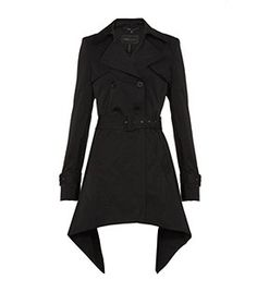 BCBG Ophelia Trench Coat with ruffle back detail