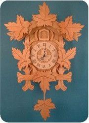 Maple leaf clock scroll saw patterns