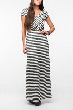 Pins And Needles Striped Knit Maxi Dress