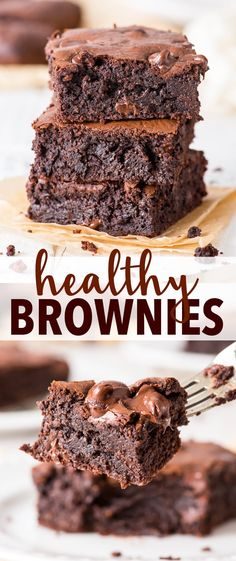 Healthy Super Fudgy Healthy Brownies The Loopy Whisk Healthy Brownies Fudgy healthy dessert recipes Loopy Super Whisk Paleo Dessert, Dessert Sans Gluten, Healthy Dessert Recipes, Easy Desserts, Baking Recipes, Paleo Recipes, Dessert Food, Whole Food Desserts, Appetizer Dessert