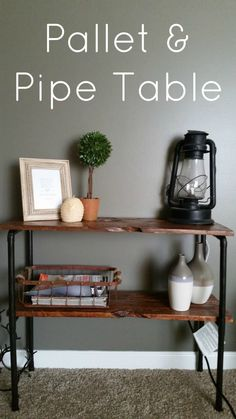 Pallet and Pipe Side Table - My Own Home @claudiajoy423 new project for you and the boy??