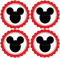 Disney Mickey Mouse Cupcake ToppersM2MPrintable by easyinvitations, $3.99
