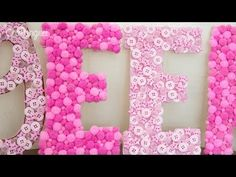 ¡Letras decorativas super fáciles!. Link download: http://www.getlinkyoutube.com/watch?v=hq12kPG8J80