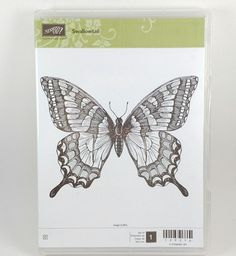 BRAND NEW Stampin' Up SWALLOWTAIL Butterfly Insect Clear mount Retired STAMP SET #StampinUp