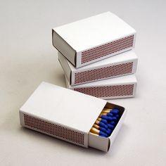 Cajas de cerillas blancas modelo estándar sin impresión. 40 cerillas.