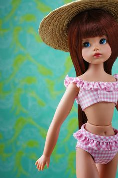 In her new iteration, created by Tonner Doll Company , The Doll You Love to Dress , boasts a high quality creamy matte vinyl, . Sindy Doll, Dolls, Knit Dress, Dress Up, Fashion Models, Fashion Show, Pink Gingham, Barbie Dress, Cute Pink
