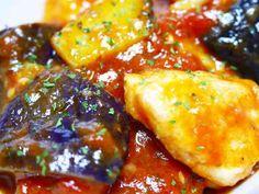 イタリアン!柔らか鶏胸肉となすのトマト煮の画像