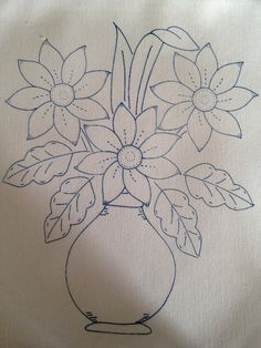 40 Easy Flower Pencil Drawings For Inspiration Embroidery Patterns Free, Hand Embroidery Designs, Ribbon Embroidery, Embroidery Stitches, Pencil Drawings Of Flowers, Applique Templates, Quilling Patterns, Applique Quilts, String Art