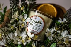 Emma's Neroli Fusion candles & Soap collection, handpoured with a blend of light & precious Neroli Blossom and Sweet Orange, with a touch of musky Lavender Pure Essential Oils: soothing, floral and # naturalcandles Natural Candles, Soy Candles, Candle Jars, Neroli Essential Oil, Pure Essential Oils, Aroma Diffuser, Diffuser Blends, Orange Oil, Handmade Candles