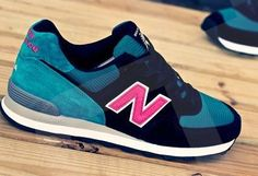 New Balance US574 2014 Made In USA Edition Deep Blue Green Womens Sneakers