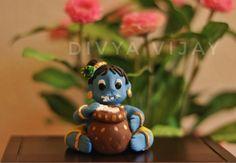 My Little Krishna :) Little Krishna, Baby Krishna, Cute Krishna, Krishna Statue, Krishna Art, Clay Art Projects, Clay Crafts, Krishna Birthday, Clay Ganesha