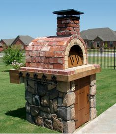 brick wood oven the moon family wood fired pizza oven in by ovens garden wood fired brick oven cooking Build A Pizza Oven, Pizza Oven Outdoor, Outdoor Cooking, Brick Oven Outdoor, Outdoor Smoker, Brick Oven Pizza, Brick Bbq, Outdoor Bars, Diy Outdoor Kitchen